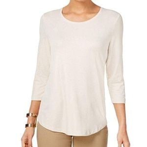 JM Collection Metallic Top Champagne Gold Scoop